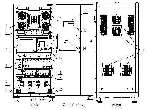 风扇  :整流模块  :两块辅助电源板ulw2l61m5