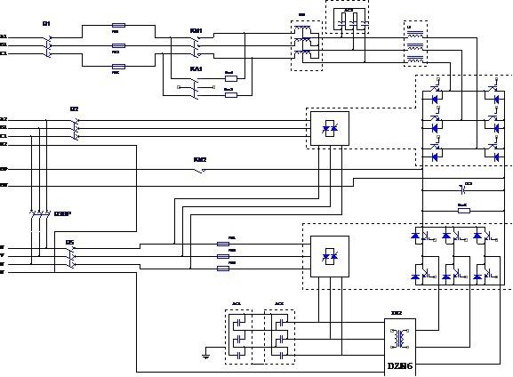 图1-2 ul33系列ups单机主电路原理图