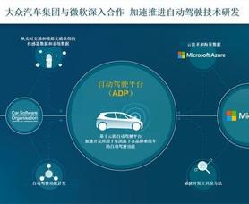 大众宣布将与微软展开合作 构建基于云计算自动驾驶平台
